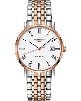 L4.910.5.11.7 Elegant Rose Gold And Stainless Steel Watch