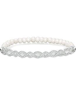 Love Bridge Infinity Silver And Pearl Bracelet