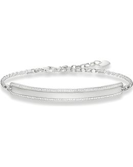 Lovebridge Sterling Silver And Zirconia Bracelet