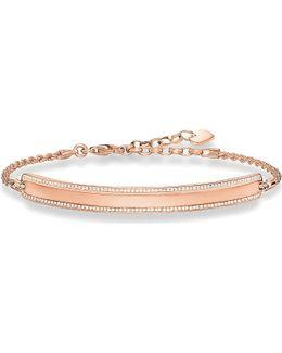 Love Bridge Rose Gold And Zirconia Bracelet