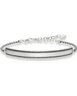 Love Bridge Sterling Silver Black Bracelet