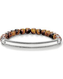 Love Bridge Tiger's Eye And Silver Bracelet