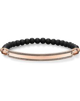 Skull Love Bridge 18ct Rose Gold-plated Bracelet