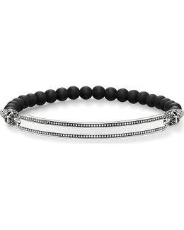 Skull Love Bridge Sterling Silver Bracelet