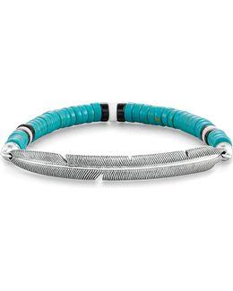 Feather Love Bridge Sterling Silver Bracelet