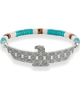 Eagle Love Bridge Sterling Silver Bracelet