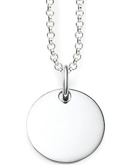 Love Bridge Sterling Silver Round Tag Necklace