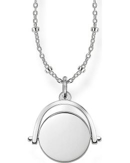 Sterling Silver Spinning Coin Engravable Necklace