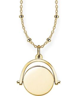 18ct Yellow Gold Spinning Coin Engravable Necklace