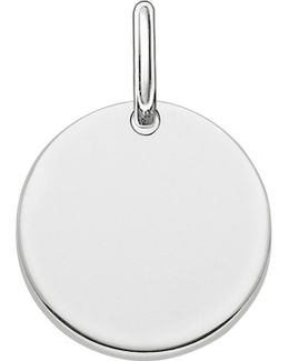 Love Bridge Engravable Sterling Silver Plated Coin Pendant