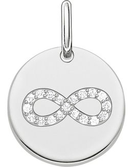 Love Coin Engravable Sterling Silver Infinity Pendant