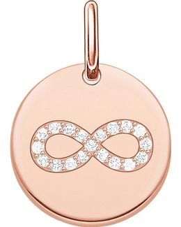 Love Coin Engravable Rose Gold-plated Sterling Silver Infinity Pendant