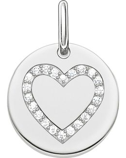 Love Coin Engravable Sterling Silver Heart Pendant