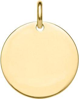 Love Coin Large Engraveable Disc Pendant