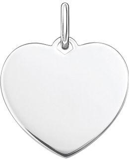 Love Coin Large Engraveable Heart Pendant