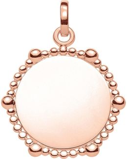 Love Coin Dot Engraveable Heart Pendant