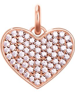 Love Coin Rose-gold And Zirconia Pendant