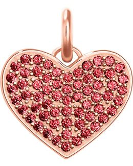 Love Coin Rose-gold And Red Zirconia Pendant