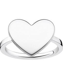 Love Bridge Engraveable Sterling Silver Heart Ring