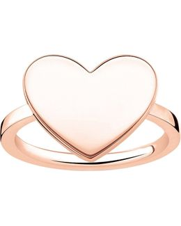 Love Bridge Engraveable Rose Gold-plated Heart Ring