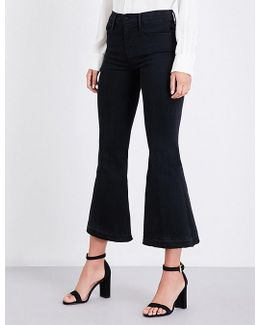 Le Crop Flared High-rise Jeans