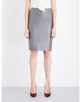 Leale Wool And Silk-blend Pencil Skirt