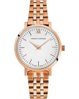 Lugano 18ct Rose Gold-plated Watch