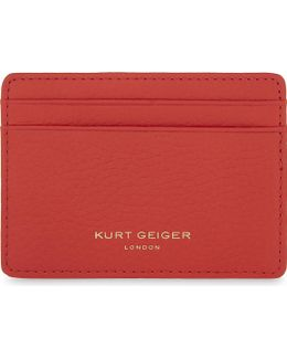 Ladies Classic Grained Leather Card Holder
