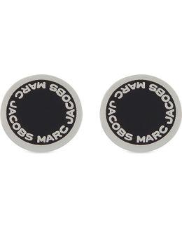 Enamel Disc Stud Earrings