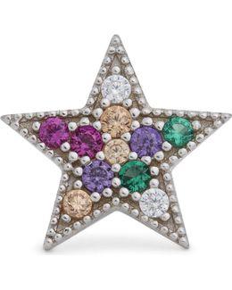Rainbow Star Single Stud Earring
