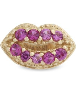 Crystal Lips Single Stud Earring