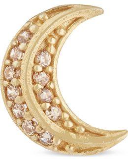 Crescent Moon Stud Earring