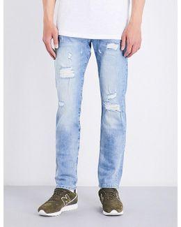 Rocco Distressed Slim-fit Skinny Stretch-denim Jeans