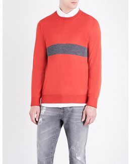 Striped-knit Wool And Cashmere-blend Jumper