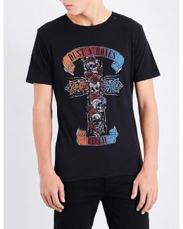 Dust And Bones Print Cotton-jersey T-shirt