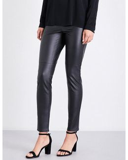 Skinny High-rise Faux-leather Leggings