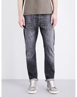 Leisure-fit Tapered Jeans