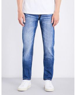 Mens Black Innovative Rocco Relaxed-fit Skinny Jeans