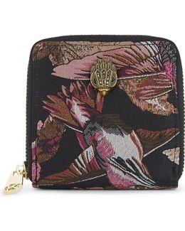 Ladies Round Bird Mini Zip-around Purse