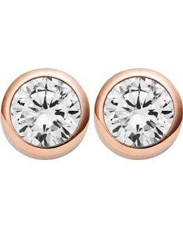 Park Avenue Rose-gold Stud Earrings