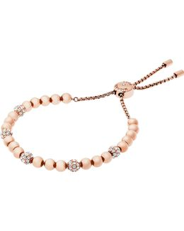 Wisteria Rose-gold And Crystal Bracelet