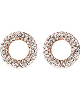 Brilliance Rose Gold-toned Pavé Stud Earrings
