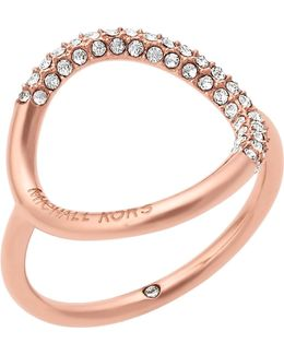 Brilliance Rose Gold-toned Pavé Ring