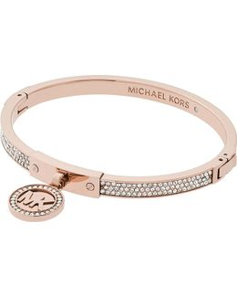 Fulton Rose-gold And Pavé Hinge Bangle Bracelet