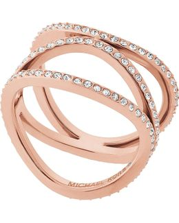 Brilliance Rose-gold And Crystal Ring