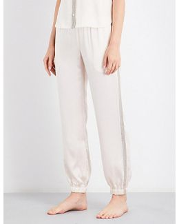 Camille Silk-charmeuse Pyjama Trousers