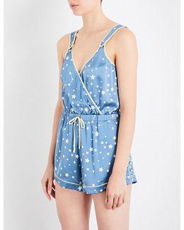 Filippa Silk-charmeuse Pyjama Jumpsuit