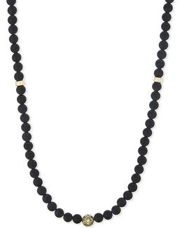 Matte Onyx Beaded Necklace