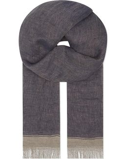 Tipped Linen Scarf