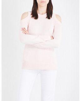 Cold-shoulder Knitted Jumper